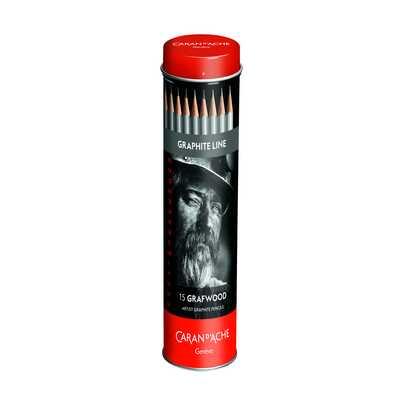 Ołówki Grafwood Caran d'Ache, 15 sztuk w tubie
