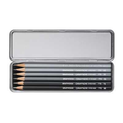 Ołówki Grafwood Caran d'Ache, 6 sztuk