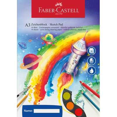 Szkicownik A3 FABER-CASTELL 100 g/m2, 10 kartek