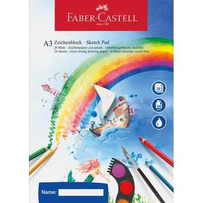 Szkicownik A3 FABER-CASTELL 100 g/m2, 20 kartek