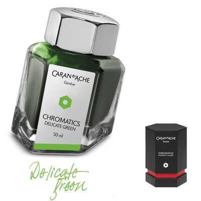 Atrament Chromatics Caran d'Ache, kolor Delicate Green (Delikatny Zielony)