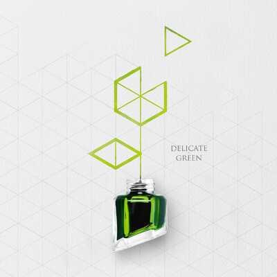 Atrament Chromatics Caran d'Ache, kolor Delicate Green (Delikatna Zieleń)