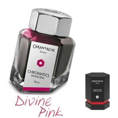 Atrament Chromatics Caran d'Ache, kolor Divine Pink (różowy)