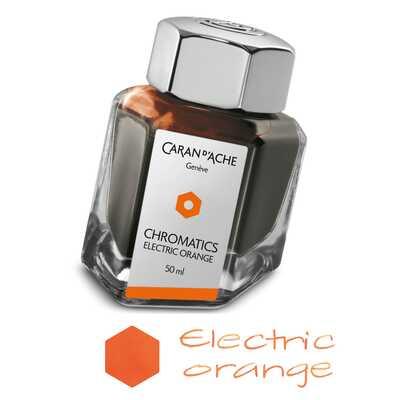 Atrament Chromatics Caran d'Ache, kolor Electric Orange (Elektryzująca Pomarańcz)