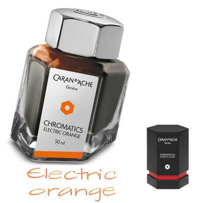 Atrament Chromatics Caran d'Ache, kolor Electric Orange (pomarańczowy)