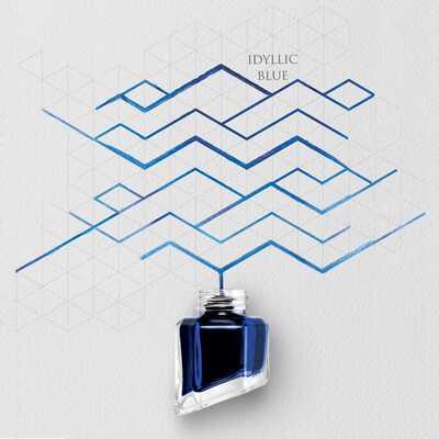 Atrament Chromatics Caran d'Ache, kolor Idyllic Blue (Sielankowy Błękit)