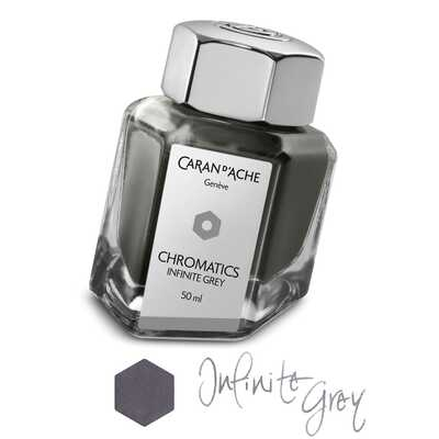 Atrament Chromatics Caran d'Ache, kolor Infinite Grey (Nieskończona Szarość)