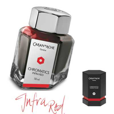Atrament Chromatics Caran d'Ache, kolor Infra Red (czerwony)