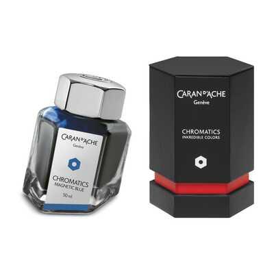 Atrament Chromatics Caran d'Ache, kolor Magnetic Blue (Magnetyczny Niebieski)