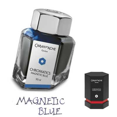 Atrament Chromatics Caran d'Ache, kolor Magnetic Blue (granatowy)