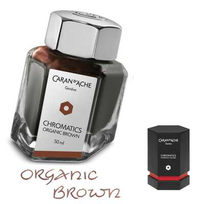 Atrament Chromatics Caran d'Ache, kolor Organic Brown (brązowy)