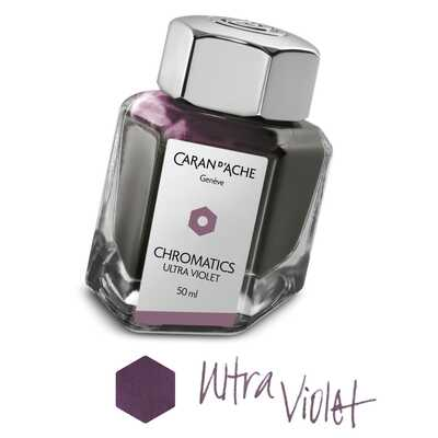 Atrament Chromatics Caran d'Ache, kolor Ultra Violet (Intensywny Fiolet)