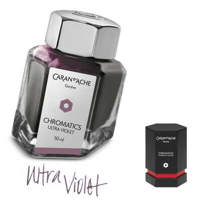 Atrament Chromatics Caran d'Ache, kolor Ultra Violet (fioletowy)
