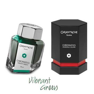 Atrament Chromatics Caran d'Ache, kolor Vibrant Green (Żywa Zieleń)