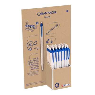 Długopis jednorazowy 825 Wood Chips Caran d'Ache, display 30 sztuk