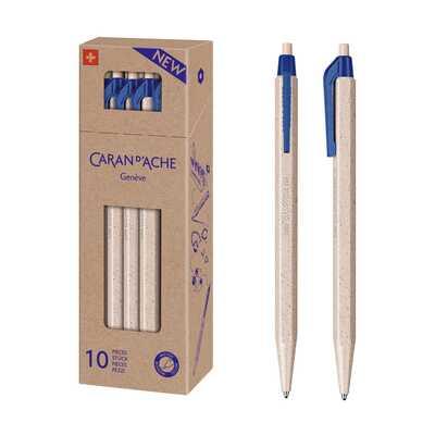 Długopis jednorazowy 825 Wood Chips Caran d'Ache, opakowanie 10 sztuk