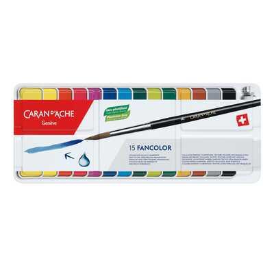 Farby Caran d'Ache Gouache Fancolor, 15 kolorów