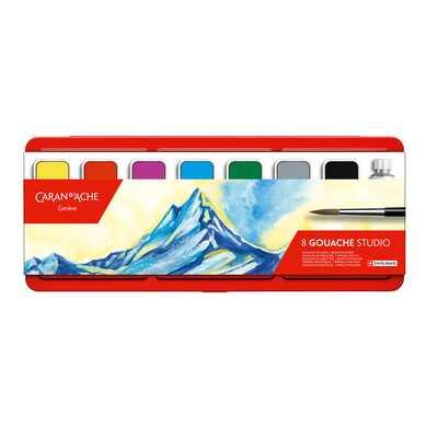 Farby Caran d'Ache Gouache Studio, 8 kolorów