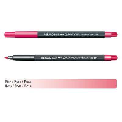 Flamaster Caran d'Ache Fibralo Brush, 081 Różowy