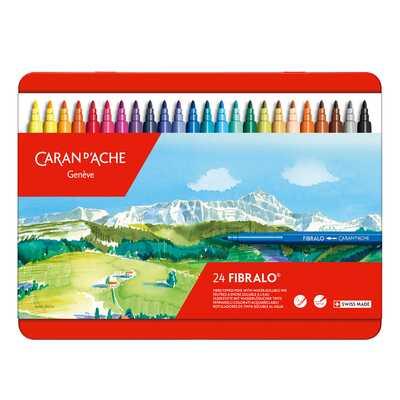Flamastry Caran d'Ache Fibralo, 24 kolory