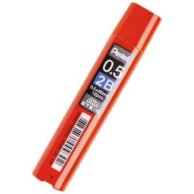 Grafity ołówkowe Pentel AIN Stein 2B, 0,5 mm