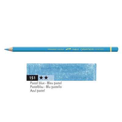Kredka Caran d'Ache Pablo, kolor 151 Pastel Blue