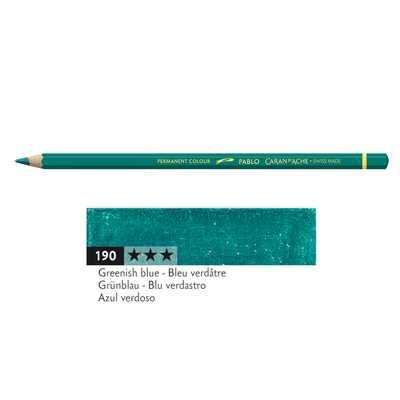 Kredka Caran d'Ache Pablo, kolor 190 Greenish Blue