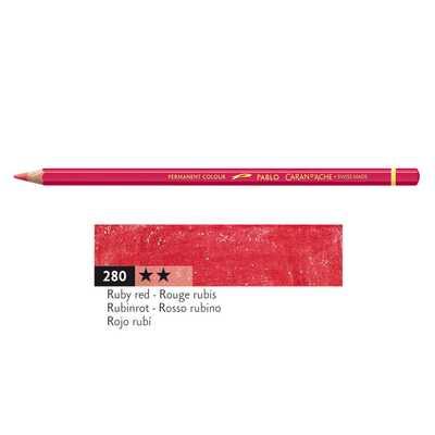 Kredka Caran d'Ache Pablo, kolor 280 Ruby Red
