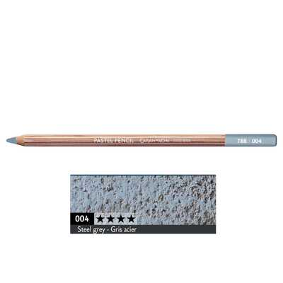 Kredka pastelowa Pastel Pencils Caran d'Ache, kolor 004 Steel grey