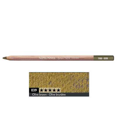 Kredka pastelowa Pastel Pencils Caran d'Ache, kolor 039 Olive Brown