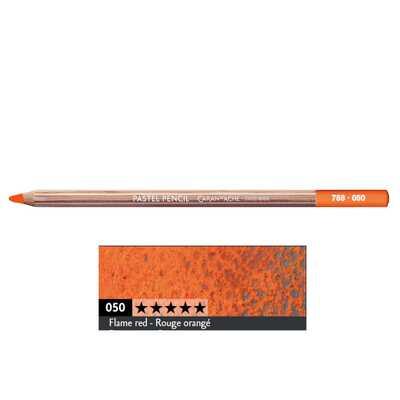 Kredka pastelowa Pastel Pencils Caran d'Ache, kolor 050 Flame Red