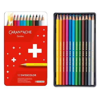 Kredki Swisscolor Caran d'Ache, 12 kolorów