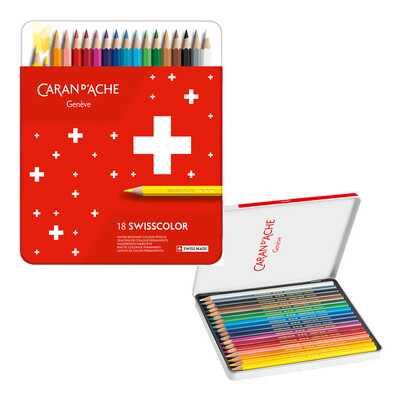 Kredki Swisscolor Caran d'Ache, 18 kolorów