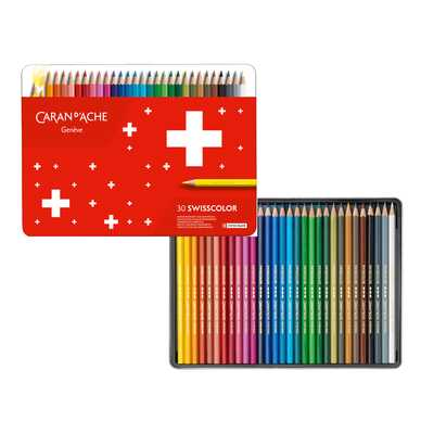 Kredki Swisscolor Caran d'Ache, 30 kolorów
