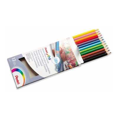 Kredki akwarelowe Pentel, 12 kolorów