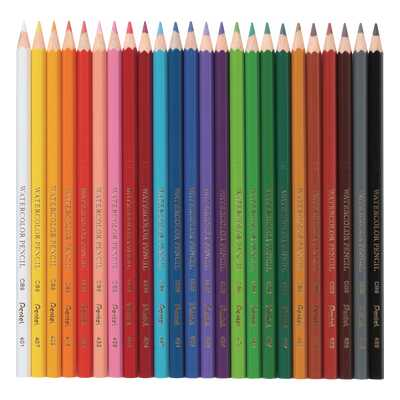 Kredki akwarelowe Pentel, 24 kolory