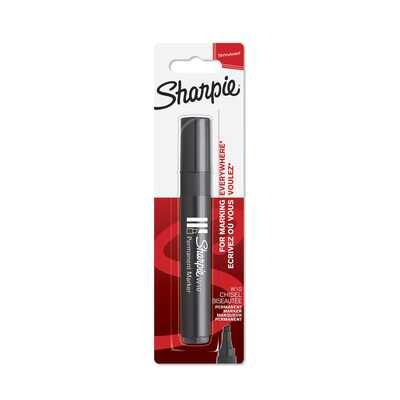 Marker permanentny Sharpie W10, ścięta końcówka, czarny na blistrze