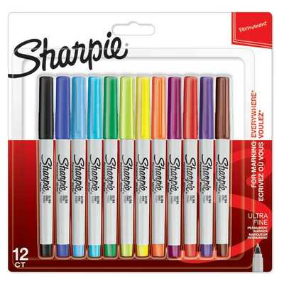 Markery permanentne Sharpie Fine, 28 kolorów