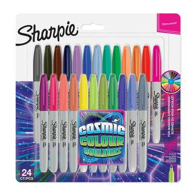 Markery permanentne Sharpie Fine Cosmic Colors, 24 kolory