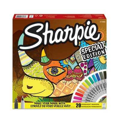 """Markery permanentne Sharpie """"Nosorożec"""", 20 kolorów"""