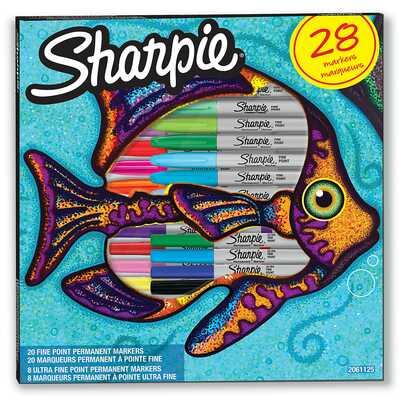 """Markery permanentne Sharpie """"Ryba"""", 28 kolorów"""