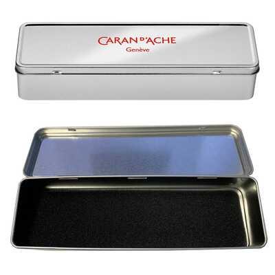 Metalowy, pusty piórnik XL Caran d'Ache do przechowywania kredek