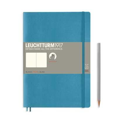 NOTATNIK LEUCHTTURM1917 COMPOSITION (B5), MIĘKKA OPRAWA, NORDYCKI NIEBIESKI