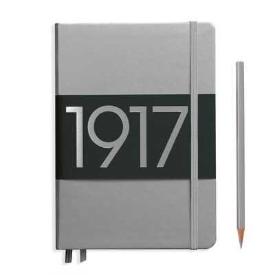 NOTATNIK LEUCHTTURM1917 EDYCJA LIMITOWANA 1917 MEDIUM (A5), SREBRNY