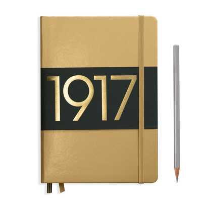NOTATNIK LEUCHTTURM1917 EDYCJA LIMITOWANA 1917 MEDIUM (A5), ZŁOTY W KROPKI