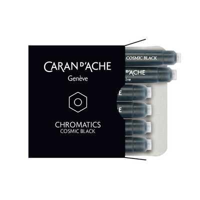 Naboje atramentowe Chromatics Caran d'Ache, kolor Cosmic Black (czarny)