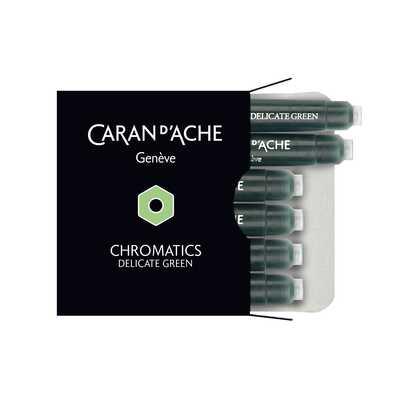 Naboje atramentowe Chromatics Caran d'Ache, kolor Delicate Green (jasny zielony)