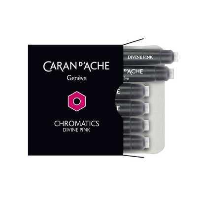 Naboje atramentowe Chromatics Caran d'Ache, kolor Divine Pink (różowy)