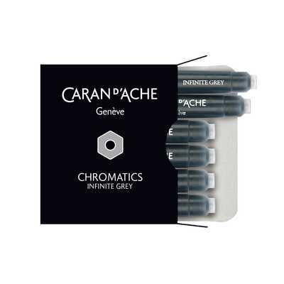 Naboje atramentowe Chromatics Caran d'Ache, kolor Infinite Grey (szary)