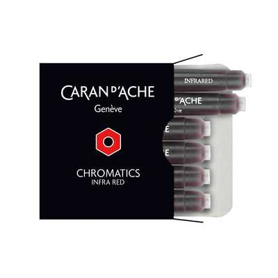 Naboje atramentowe Chromatics Caran d'Ache, kolor Infra Red (czerwony)